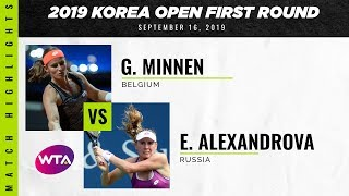 Greet Minnen vs. Ekaterina Alexandrova | 2019 Korea Open | WTA Highlights