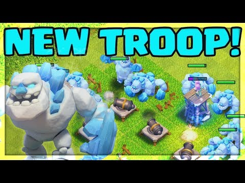 NEW TROOP GAMEPLAY! Ice Golem Gameplay - Clash Of Clans UPDATE!