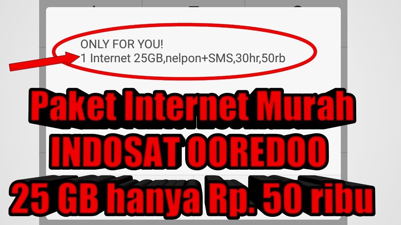 Cara Mendaftar Paket Internet Indosat Ooredoo 25gb Seharga 50 Ribu Onlyforyou Youtube