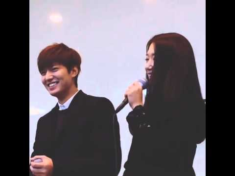 131212 Lee Min Ho & Park Shin Hye @ Cheil Worldwide Charity Auction
