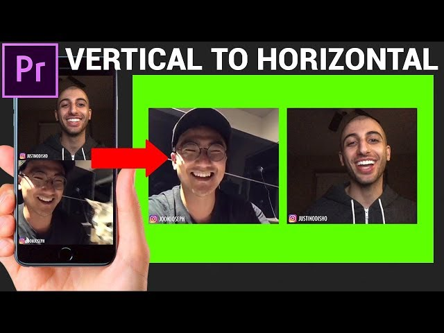 How to turn VERTICAL videos back into HORIZONTAL for Youtube! (Adobe Premiere Pro CC Tutorial)