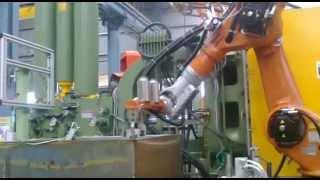 kuka robot in aluminium pressure die casting