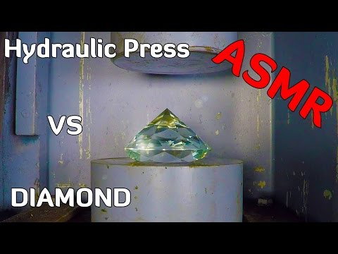 Thumbnail: DIAMOND (glass) vs HYDRAULIC PRESS = SATISFYING SOUND !!!