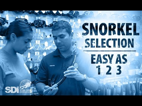 Mask, Snorkel & Fins | Snorkel Selection: Easy as 1-2-3