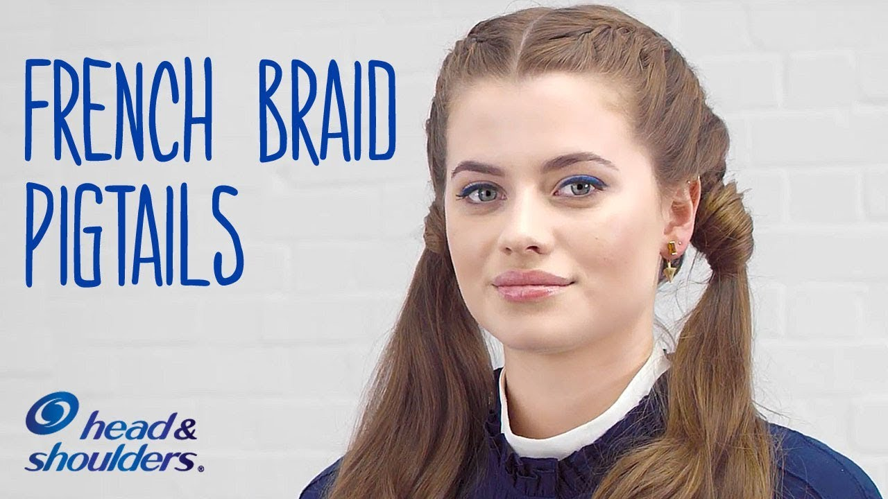 How To Do Double French Braid Pigtails Head Shoulders