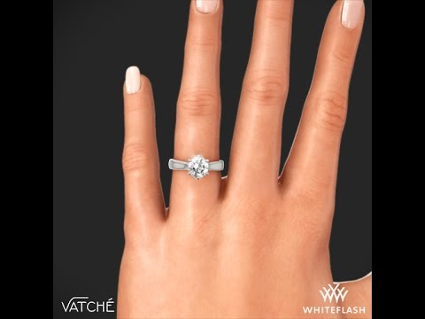 00d523669ae502 Vatche 119 Royal Crown Solitaire Engagement Ring on Hand - YouTube