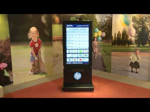 Corporate Floor Stand type of Interactive Way Finder Signage Channel
