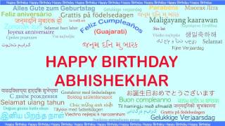 Abhishekhar   Languages Idiomas - Happy Birthday