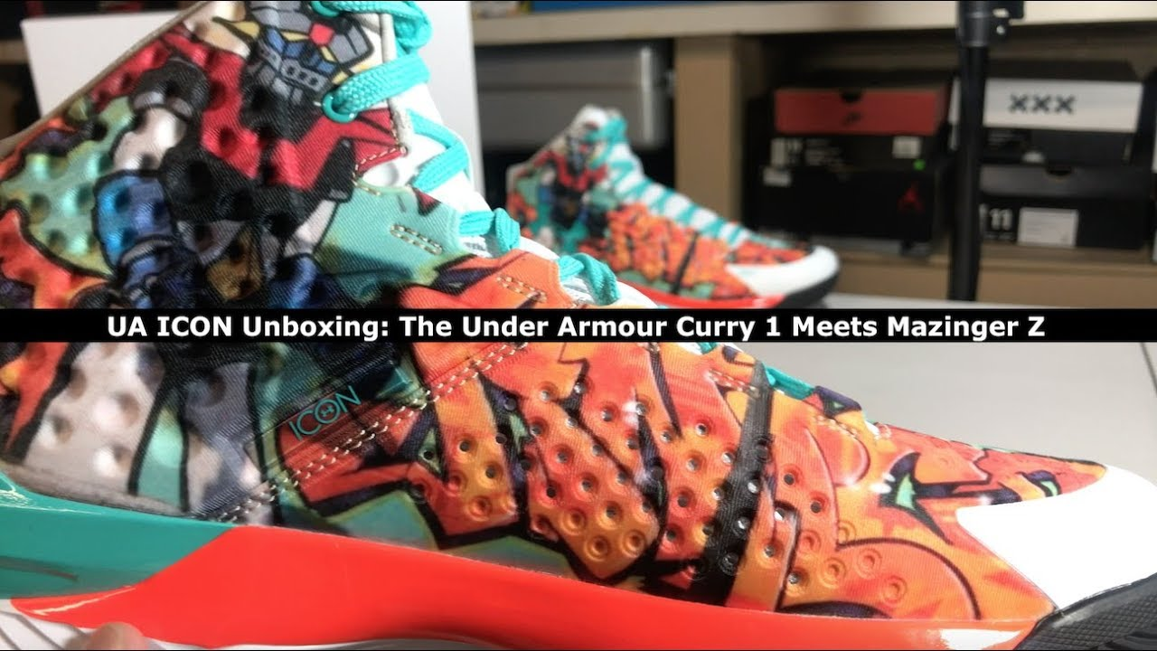 06a17109300 Unboxing: The Under Armour Curry 1 ICON meets Mazinger Z - YouTube