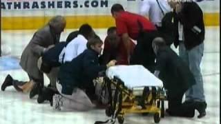 Ondrej Pavelec Collapses [Full Incident] {Part 1}