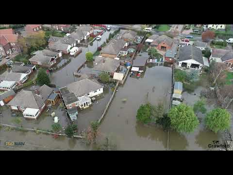 Drone Footage Of The Devastation In Stainforth And Fishlake