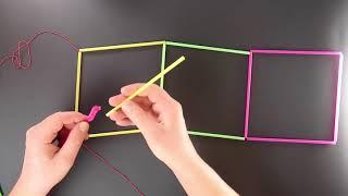 Математика в іграшках Головоломка Говарда Флейшера з трубочок