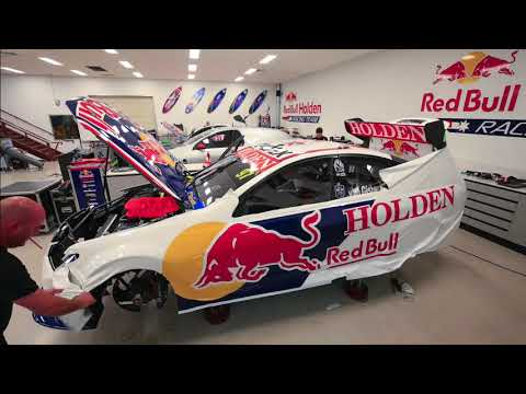 How Do You Wrap A Red Bull Holden Racing Team VF Commodore Supercar?