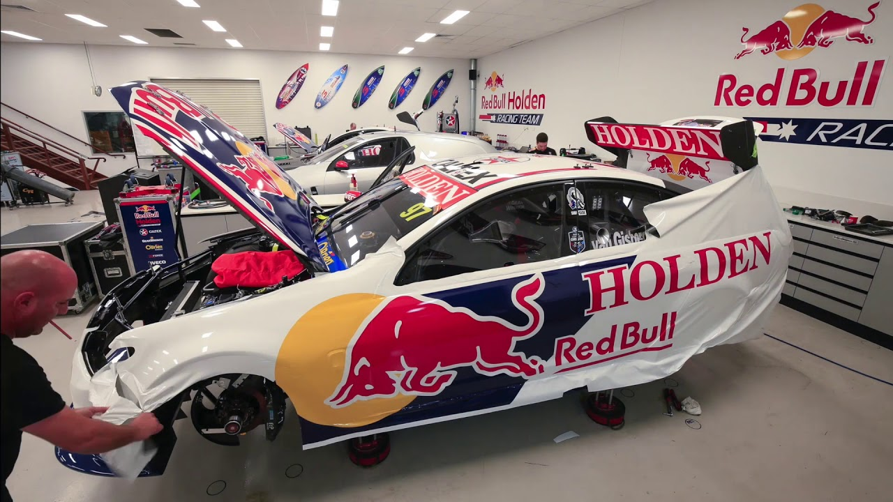 How do you wrap a Red Bull Holden Racing Team VF Commodore ...