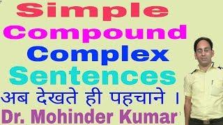 Simple l Compound l Complex Sentences l Clauses l ctms tutorial l