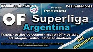 OF SUPERLIGA ARGENTINA | EFOOTBALL PES 2020 | PS4 Y PC LINK abajo del video MEGA MEDIAFIRE