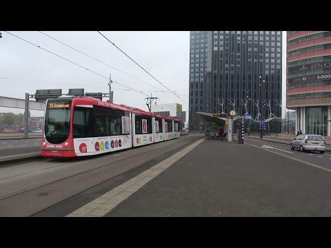 RET Alstom Citadis 2044 Central Plaza reclametram Wilhelminaplein te Rotterdam | tramlijn 25