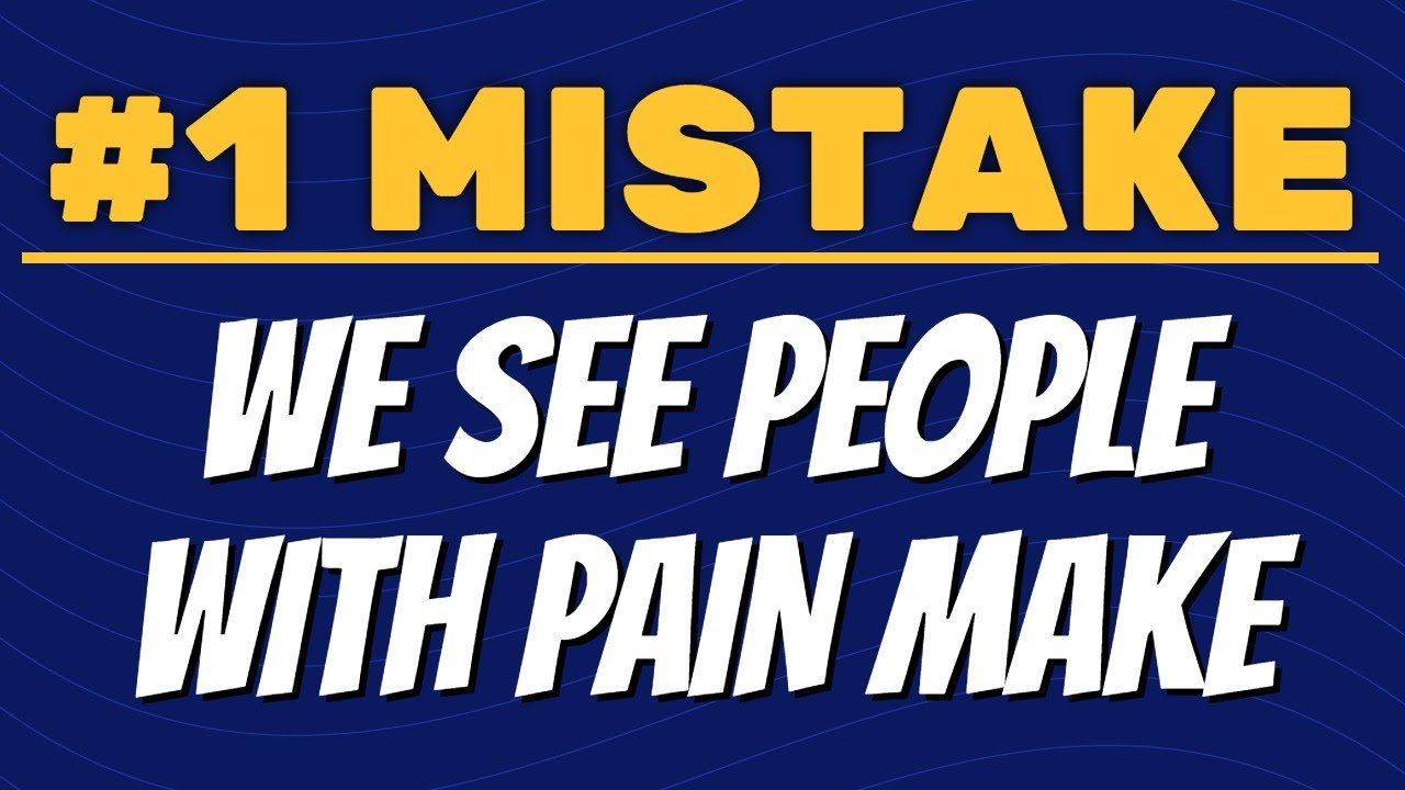 #1 Mistake We See People Make with Back Pain, Hip Pain, Knee Pain, etc. (Physical Therapist View)
