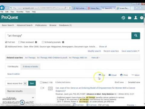How To Use ProQuest For Your Article Research Assignment.