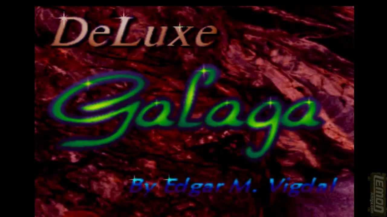 Deluxe Galaga AGA (Amiga PD) + 7 PD Invaders Clones - by LemonAmiga com