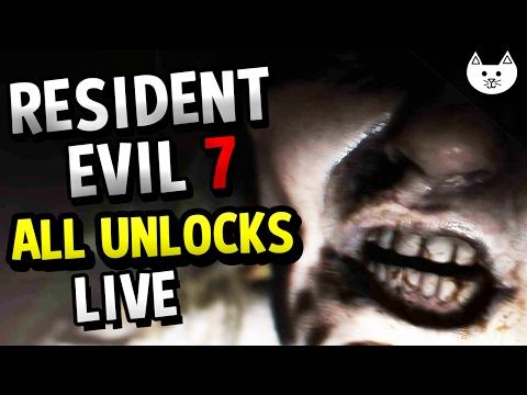 Resident Evil 7 Gameplay LIVE - UNDER 4 HOURS CHALLENGE ALL UNLOCKS COMPLETE