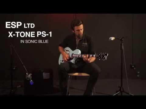 ESP LTD X-TONE PS-1 SONIC BLUE - QUICK REVIEW