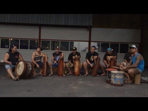Drumming in Tahiti