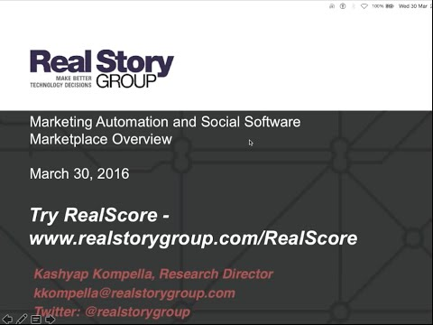 Webinar: Overview of the 2016 Marketing Automation and Social Software Marketplace