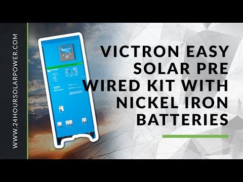 Victron Easy Solar Pre-wired kit with Nickel Iron Batteries