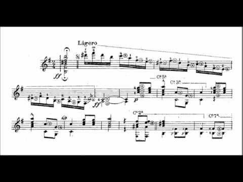 Francisco Tarrega - Danza mora (audio + sheet music)
