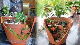 Gambar cover Make a Miniature Garden Landscape in a Broken Plant Pot