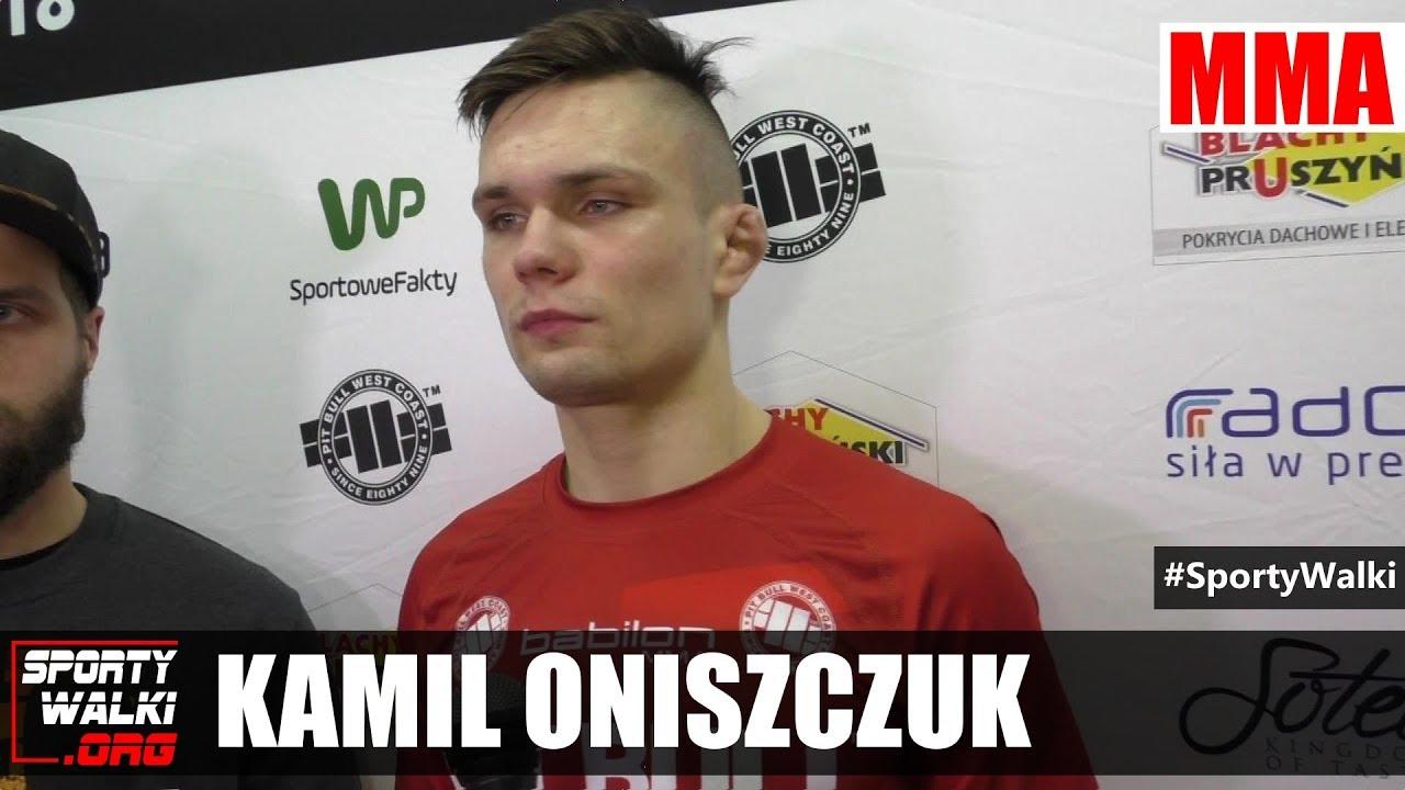 Kamil Oniszczuk skromny po efektownym zwycięstwie