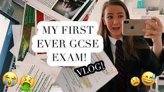 MY FIRST EVER GCSE VLOG! Stressing out, nerves + how it went | JasmineElizabeth