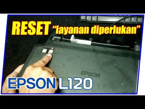 Cara Reset Printer Epson L120 Lampu Berkedip Bergantian.