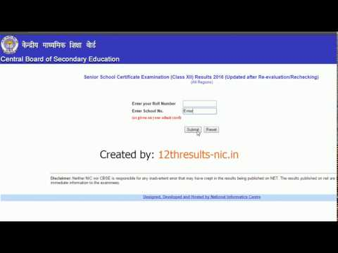 CBSE 12th result Checking - How to check CBSE board 12th result