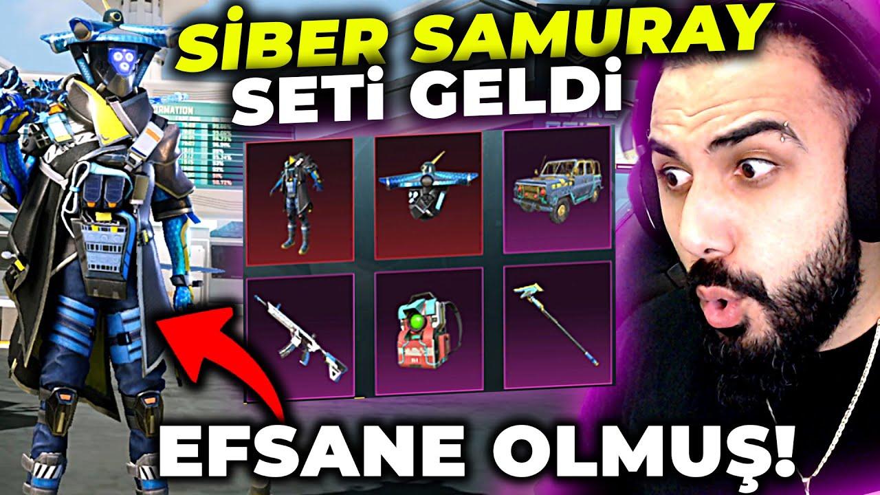 YENİ SİBER SAMURAY SETİ GELDİ!! ANINDA FULLEDİK YOK BÖYLE ŞANS!! | PUBG MOBILE