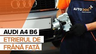 Cum se inlocuiesc etrierul de frână față pe AUDI A4 B6 [TUTORIAL]