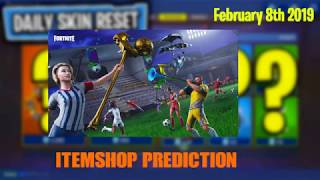February 8th Fortnite Item shop Prediction *Soccer skins Returning?* Soon