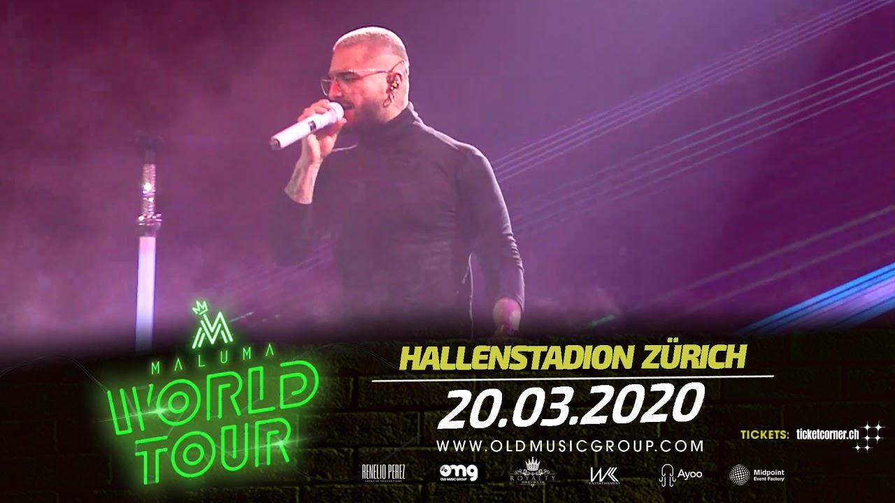 Maluma Tour 2020.Maluma Konzert Hallenstadion Zurich 20 03 2020