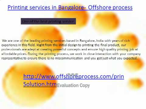 Printing Services in Bangalore - Offshore process