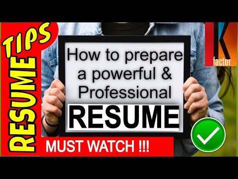 How to make a RESUME-2019| For Freshers [Step by Step Tutorial] -- by Krish thumbnail