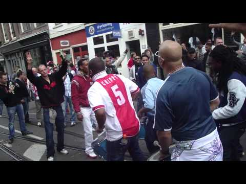 Ajax Champion of Holland moments after whistle @bouwman Amsterdam utrechtsestraat (HD)
