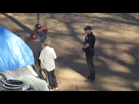 Redding California Police Attempts To Swing Baton At Young Homeless Child