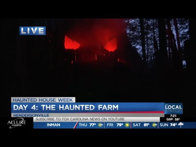 The Haunted Farm 2019 | Joe Gagnon of Fox Carolina News Experiences Terror in the Woods