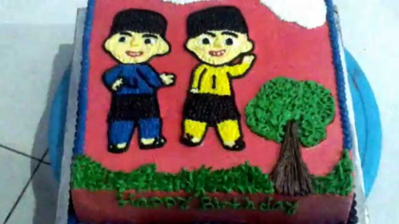 Upin Ipin Cake Birthday YouTube