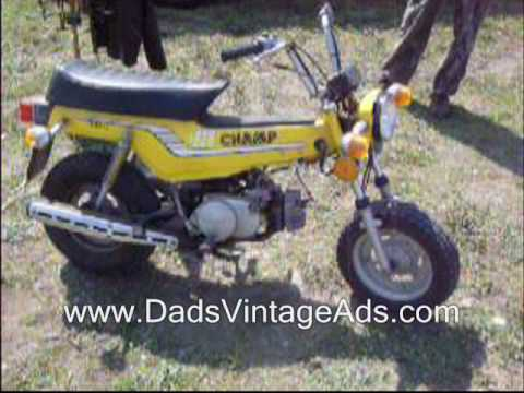 1977 Vintage Yamaha Champ 80cc Motorcycle / Mini-Cycle / Minibike ...