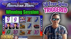 ① 56 Free Games! ✅Let's Play Slots! ✅American Diner Slot! ✅ Slot Machines ➜ Bonus Game ⚡Big Wins ⚡