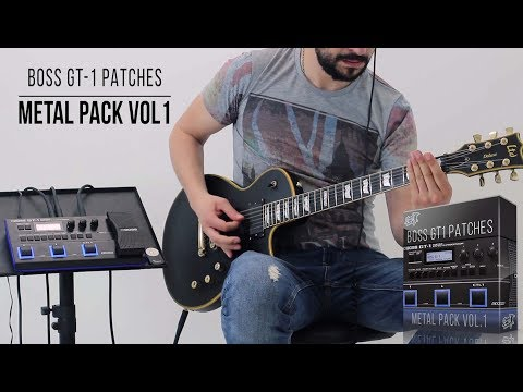 Boss GT-1 - Metal Pack vol.1 | Playthrough