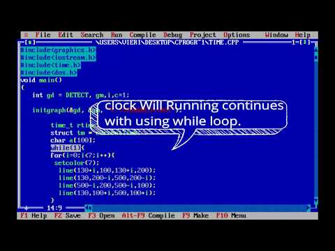 How to create - Simple Digital Clock in C++ | using Time.h file