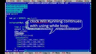 كيفية إنشاء - ساعة رقمية بسيطة في C++ | استخدام الوقت.ساعة الملف